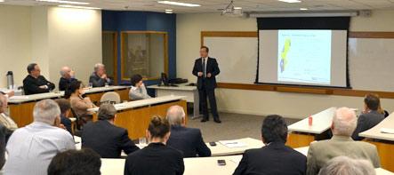 O superintendente Marco Rossi em apresentação no IBGC