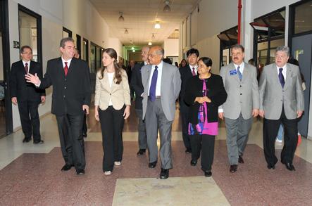 Comitiva percorreu as instalações das Faculdades Integradas Rio Branco
