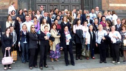 Educadores visitaram o Ministério da Educação na Dinamarca