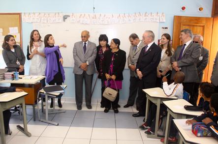 Kalyan Banerjee em visita aos alunos da Escola para Crianças Surdas Rio Branco
