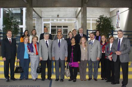 O grupo Conheceu o Colégio Rio Branco, Unidade Granja Vianna